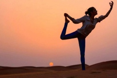 Yoga in Sunset middle of Sahara